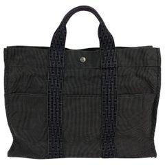Hermes Paris Canvas Herline Her Line MM Tote Bag Handbag