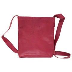 Hermes Paris Clou De Selle Fuschia Logo Messenger Crossbody Bag in Box