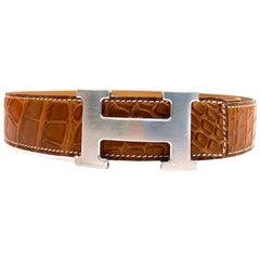 Hermes Paris crocodile belt