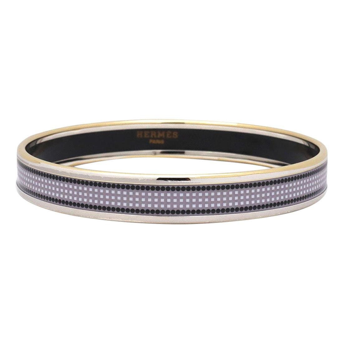 Hermes Paris Dotted Abstract Enamel Bangle