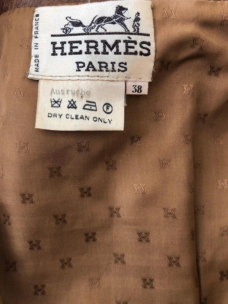 Hermes Paris Extraordinary Vintage Honey Brown Ostrich Motorcycle Jacket  9