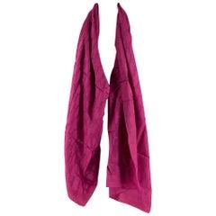 Hermes Paris Fuchsia Pink Monogrammed Silk Blend Scarf/Shawl