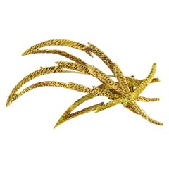 Hermes Paris Gold Brooch