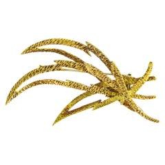 Hermes Paris Gold Brooch