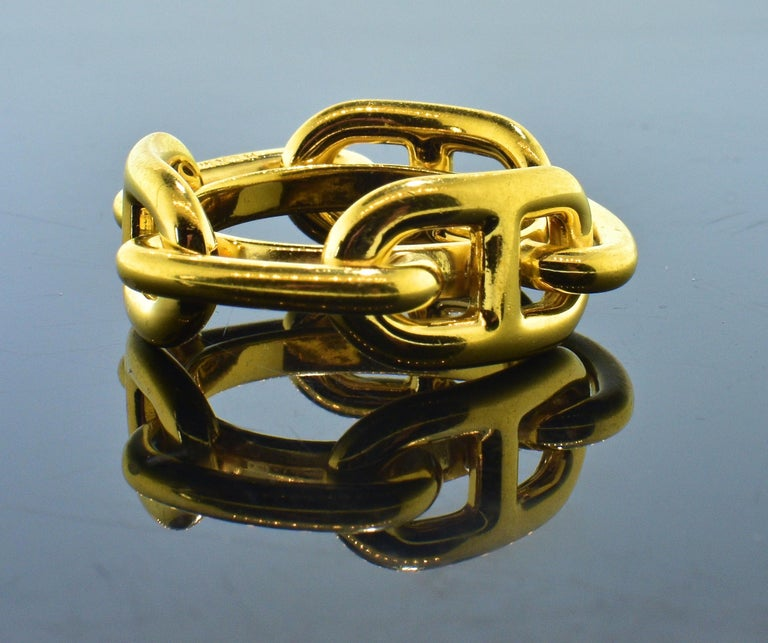 Hermes Paris Gold Color Ring or Scarf Ring In Excellent Condition For Sale In Aspen, CO