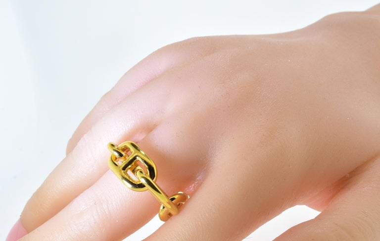 Hermes Paris Gold Color Ring or Scarf Ring For Sale 1