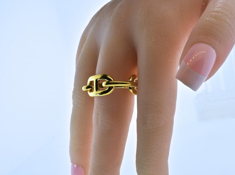 Hermes Paris Gold Color Ring or Scarf Ring For Sale 4