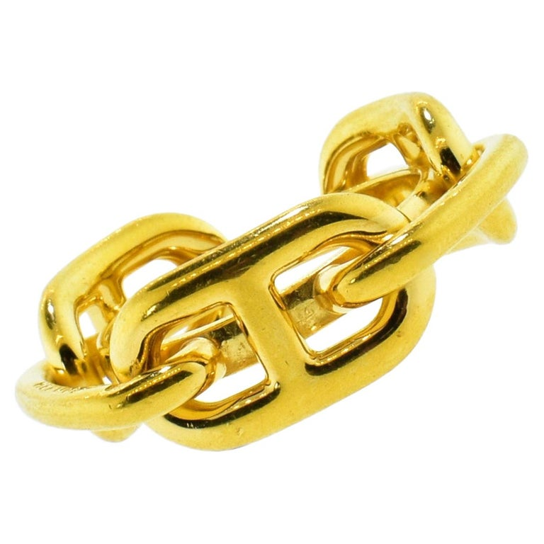 Hermes Paris Gold Color Ring or Scarf Ring For Sale