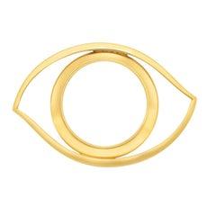 Hermès, Paris Gold-Plated 'Eye' Magnifying Glass