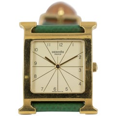 Hermès Paris Gold-Plated Wrist Watch, 2000s