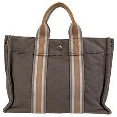 Hermes Paris Gray Cotton Fourre Tout PM Ginza 2001 Bag Limited Ed