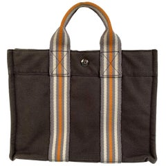 Hermes Paris Gray Fourre Tout PM Ginza 2001 Bag Limited Ed with Box
