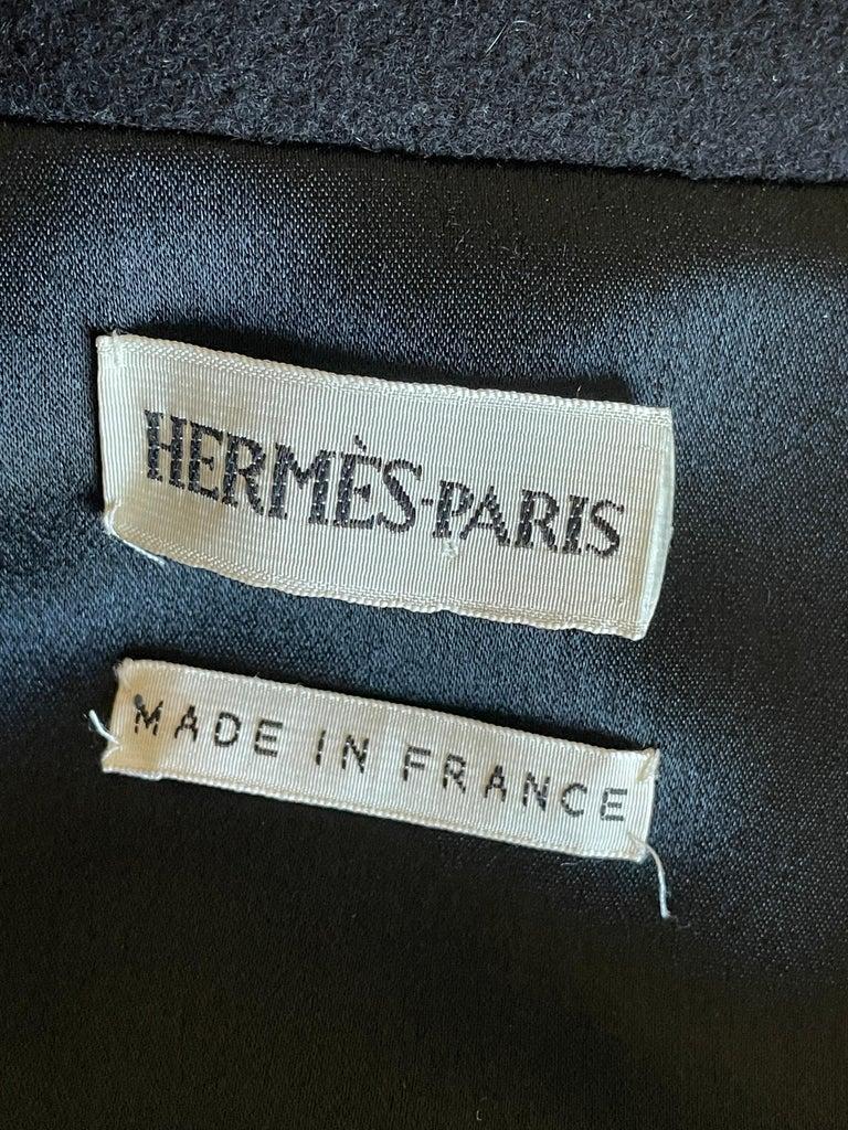 Hermes Paris Men's Black Double Face Cashmere Zip Front Vest In Excellent Condition For Sale In San Francisco, CA