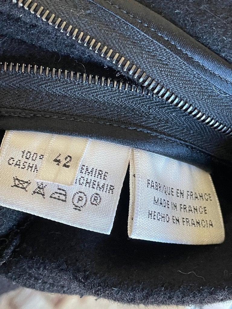 Hermes Paris Men's Black Double Face Cashmere Zip Front Vest For Sale 1