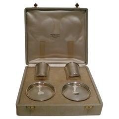 Hermes Paris, Rare French Silver Smoking Set, c 1930