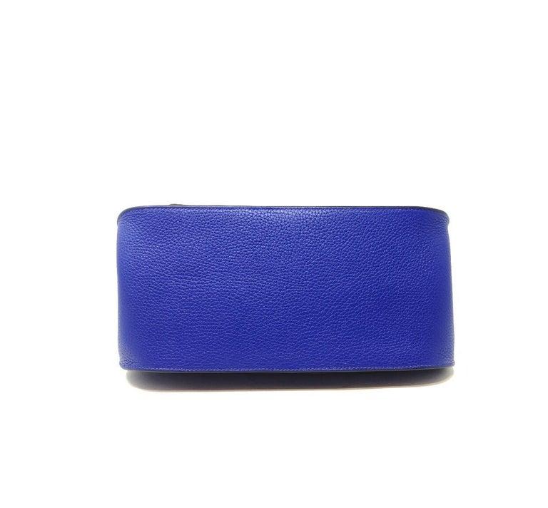 Sac Jipsiere Hermès Paris 100% authentic whith original envoice Hermès year 2018 , in veau taurillon Clemence blue electric hdw Silver, dimensions 31x25 cm  Dust-bag included.