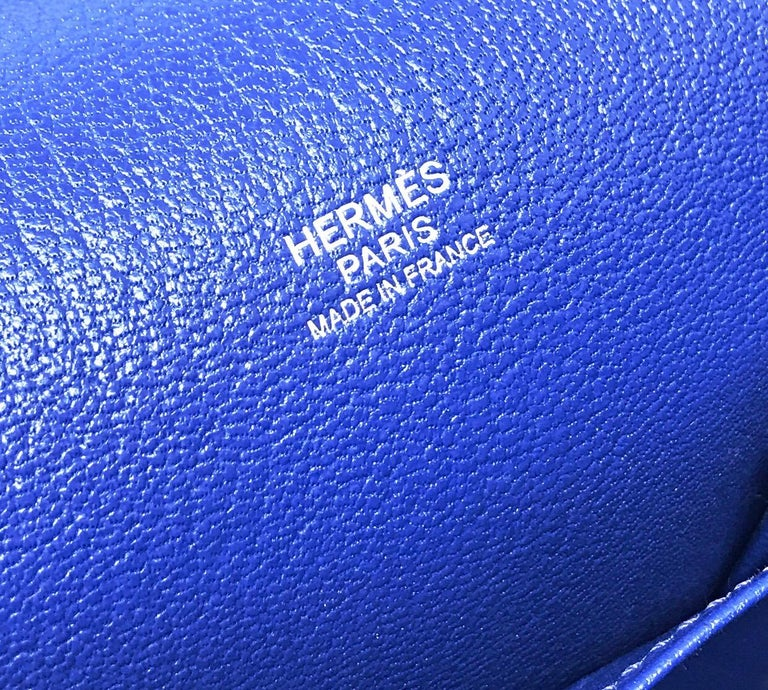 Women's or Men's HERMES PARIS Sac Jipsyere Blue Electric brand new, 2018  For Sale