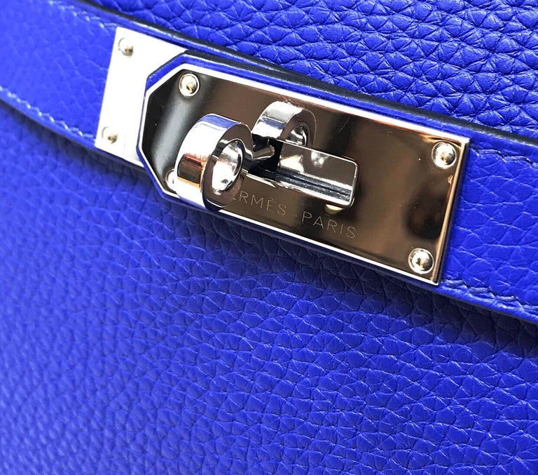 HERMES PARIS Sac Jipsyere Blue Electric brand new, 2018  For Sale 2