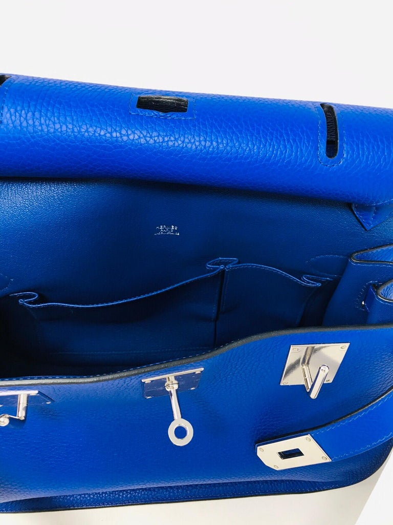 HERMES PARIS Sac Jipsyere Blue Electric brand new, 2018  For Sale 5