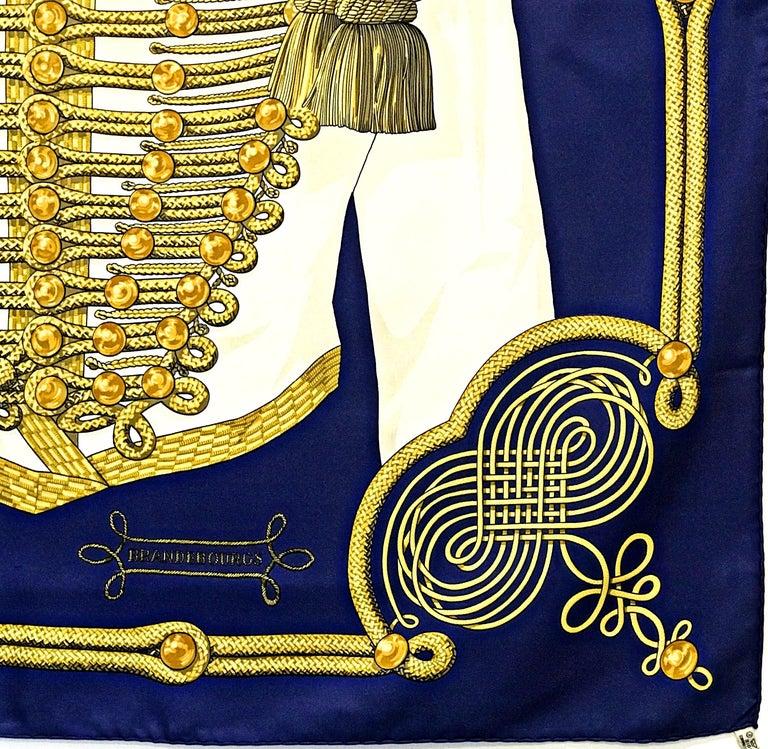"Black Hermes Paris Title ""Brandebourgs"" scarf For Sale"