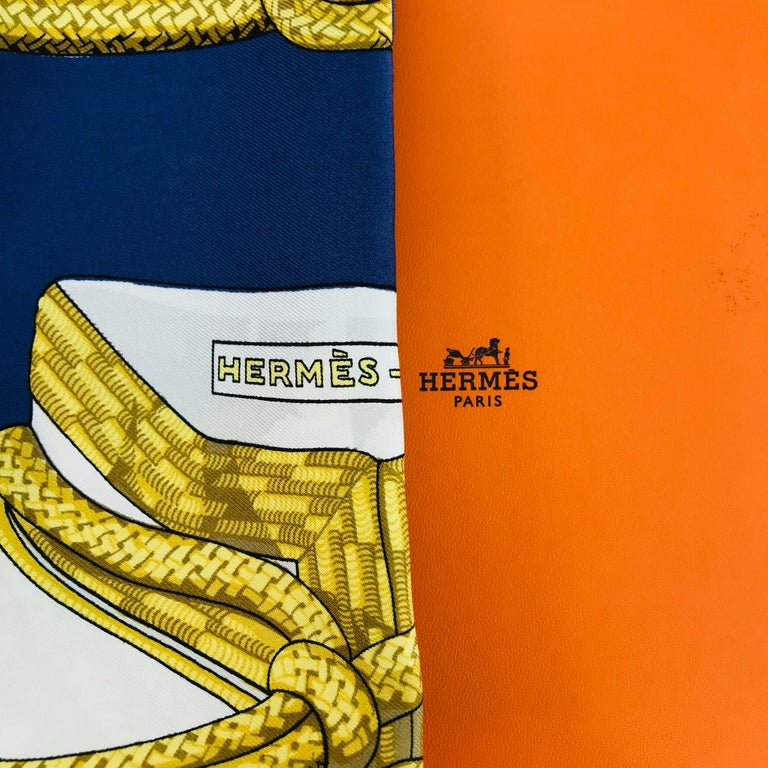 """Hermes Paris Title """"Brandebourgs"""" scarf In Good Condition For Sale In Milan, IT"""
