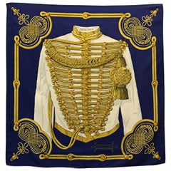 """Hermes Paris Title """"Brandebourgs"""" scarf"""