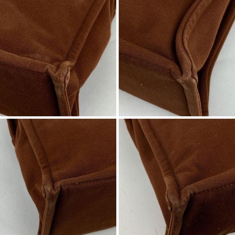 Hermes Paris Vintage Brown Cotton Fourre Tout MM Tote Bag For Sale 1