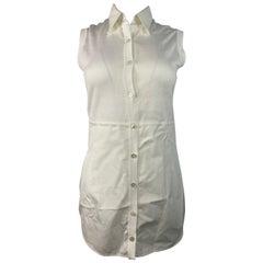 Hermes Paris White Sleeveless Top Size 38