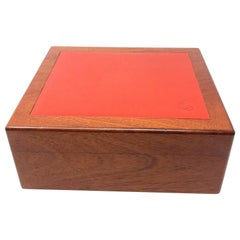 HERMES PARIS wooden cigar box.