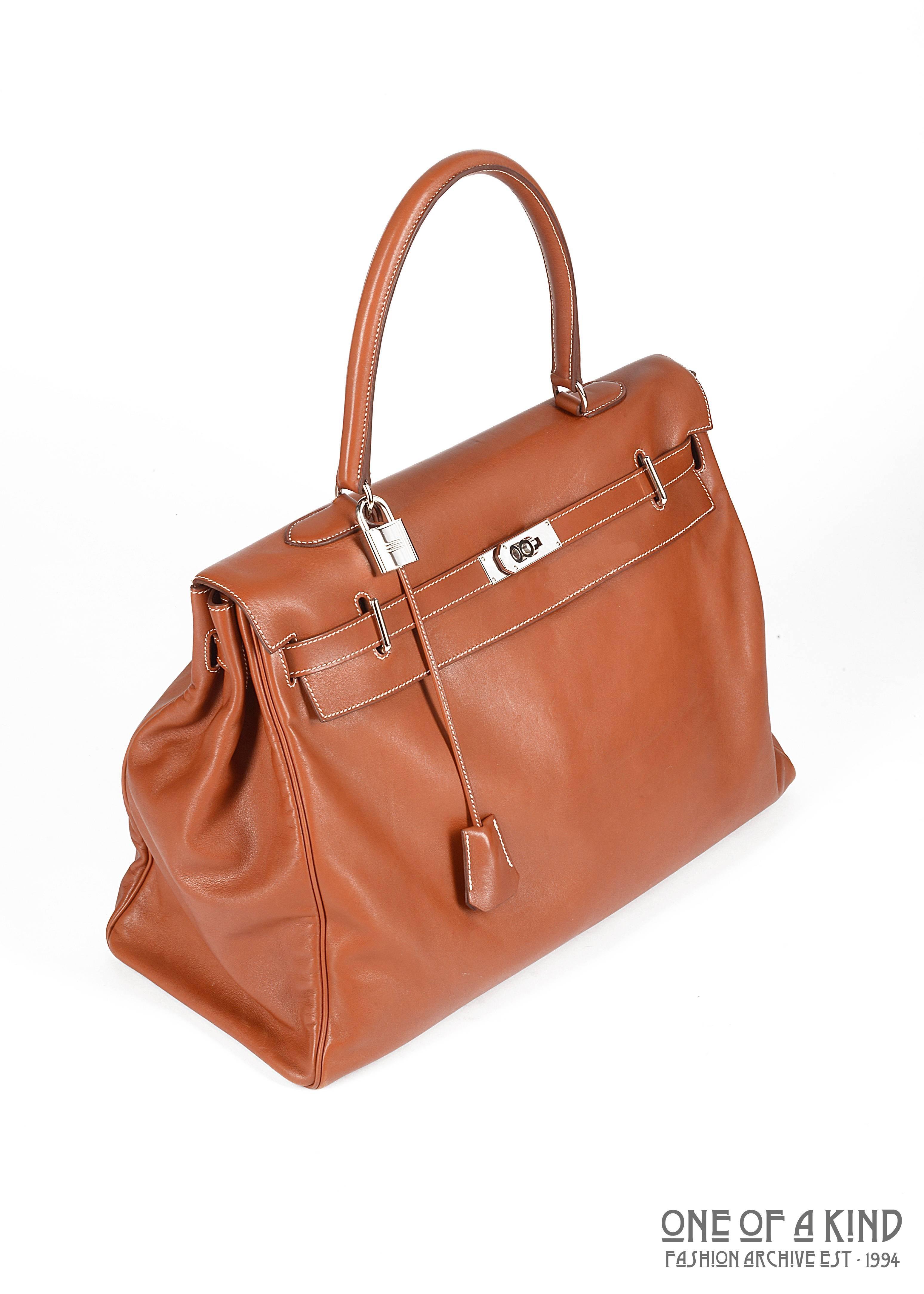 78b5def73de ... france hermes paris xxl tan leather travel kelly bag with silver  hardware tourterelle veau sikkim leather