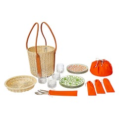 Hermes Park Picnic Basket A Walk in the Garden Plates and More New w/ Box