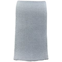 HERMES Pastel Blue Woven Silk Tie