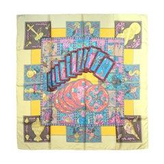 Hermes Pastel Le Tarot Silk Scarf