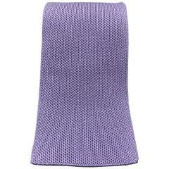 HERMES Pastel Purple Woven Silk Tie