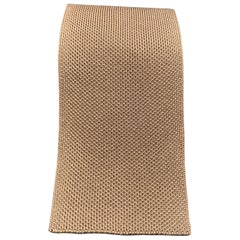 HERMES Pastel Taupe Woven Silk Tie