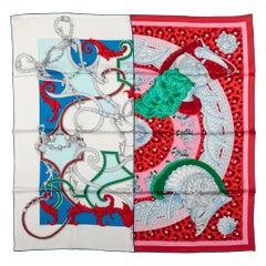 Hermes Patchwork Silk Scarf
