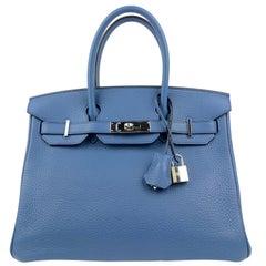 Hermès  Pebble Blue Togo 30 cm Birkin