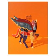 Hermès Pegasus Le Pégase Cheval Ailé Cardboard Horse to Hang