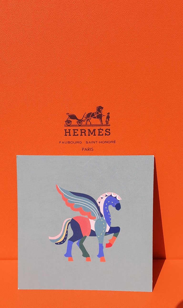 Hermès Pegasus Le Pégase Cheval Ailé Winged Horse in Cardboard to Hang For Sale 9