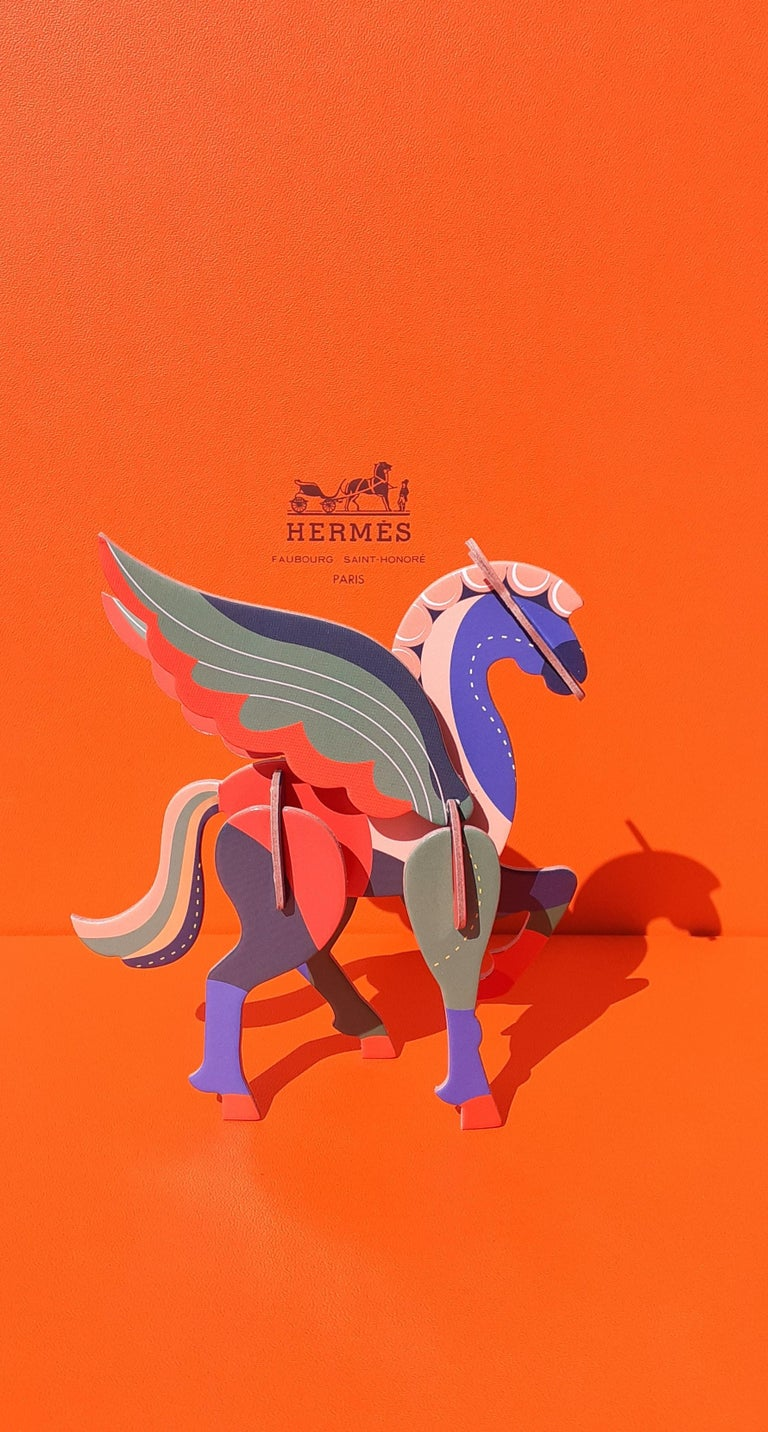 Hermès Pegasus Le Pégase Cheval Ailé Winged Horse in Cardboard to Hang For Sale 15