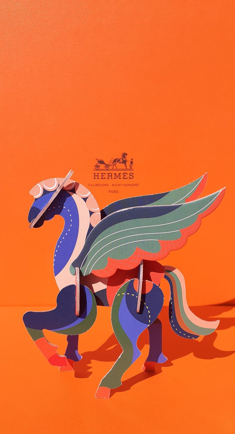 Hermès Pegasus Le Pégase Cheval Ailé Winged Horse in Cardboard to Hang For Sale 2