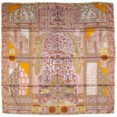 Hermes Persian Carper Pink Silk Shawl