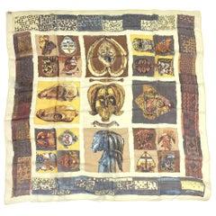 "Hermès ""Persona"" Silk Chiffon 90 cm Scarf by Loïc Dubigeon, 1997."