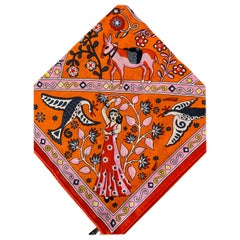 Hermes Peuple du Vent shawl 140 Cashmere Shawl Scarf