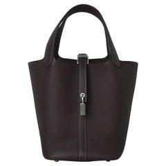 Hermes Picotin 18 Lock Bag Palladium Hardware OG Rouge Sellier