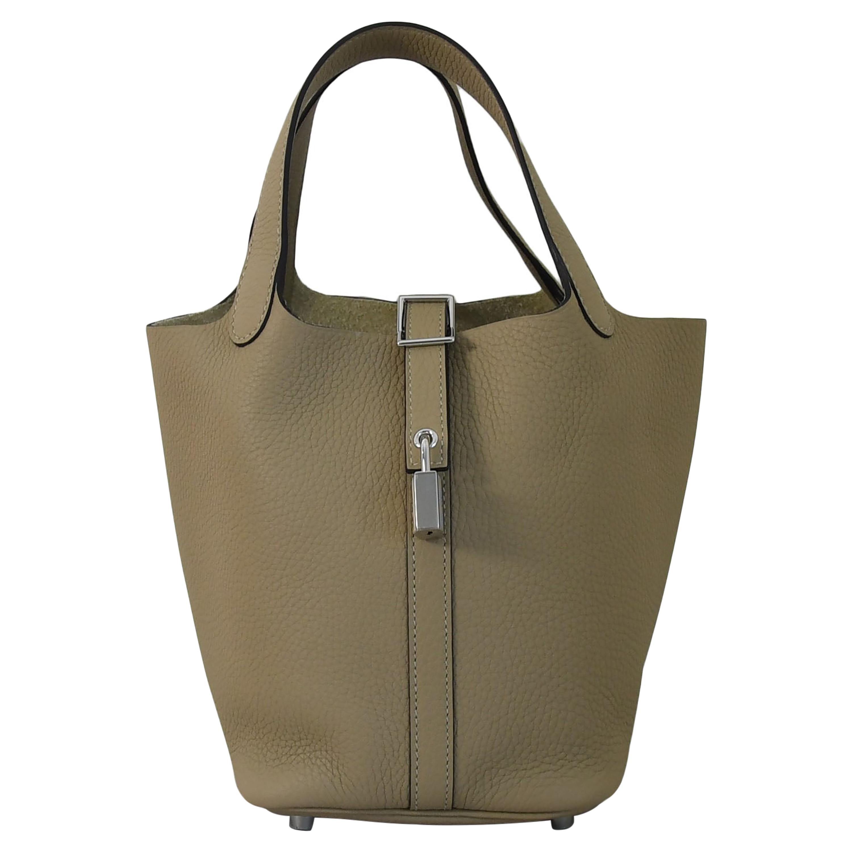 Hermes Picotin 18 Lock Bag Palladium Hardware Trench