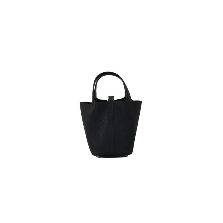 Hermes Picotin 18 Lock Bag Touch Gold Hardware Black In New Condition For Sale In Flushing, NY