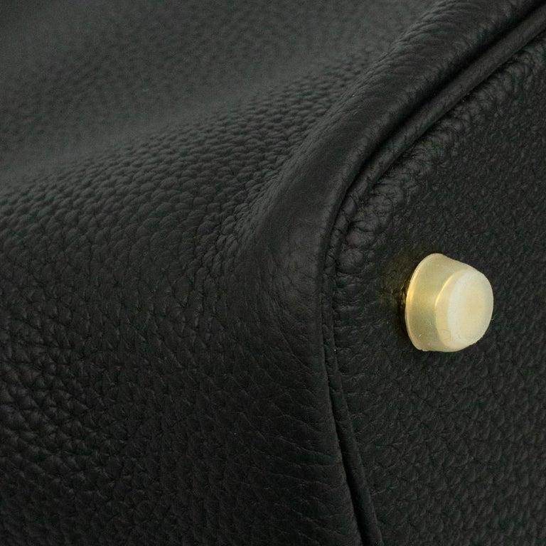 Hermès, Picotin 22 lock in black leather For Sale 6