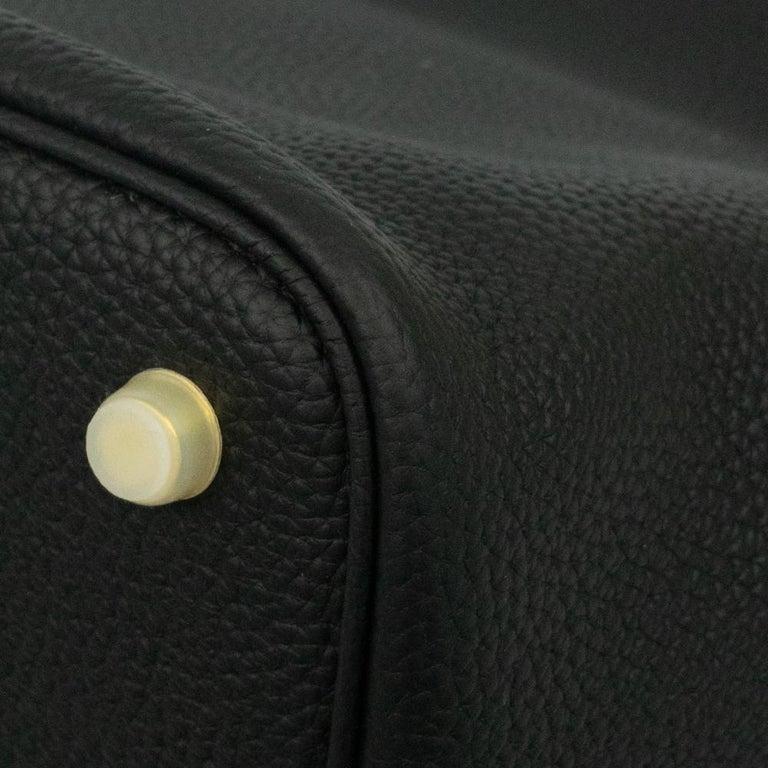 Hermès, Picotin 22 lock in black leather For Sale 7