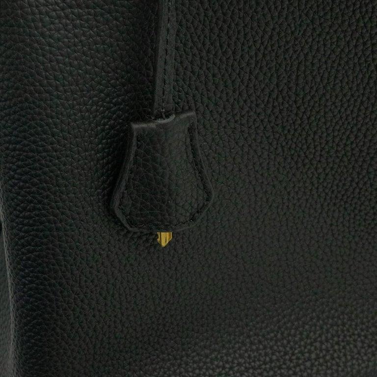Hermès, Picotin 22 lock in black leather For Sale 8